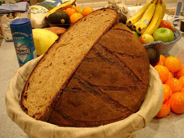 Miche with Spelt and Rye Levain