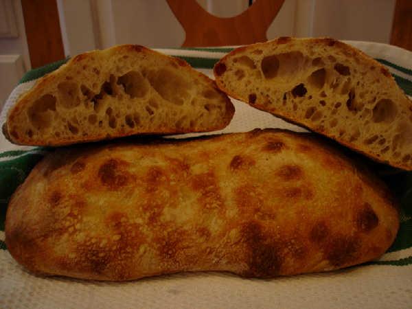Sourdough Ciabatta Crumb
