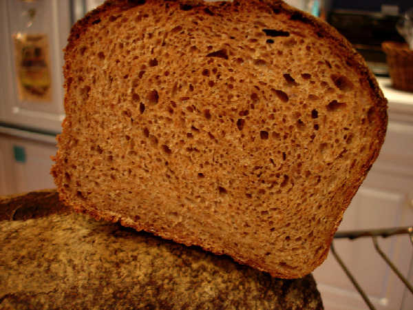 Whole Grain Sourdough Sandwich Bread Crumb