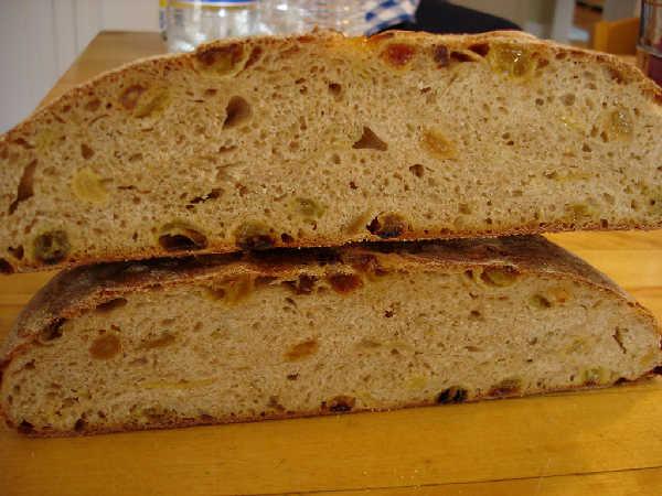 Sourdough Raisin Bread Inside