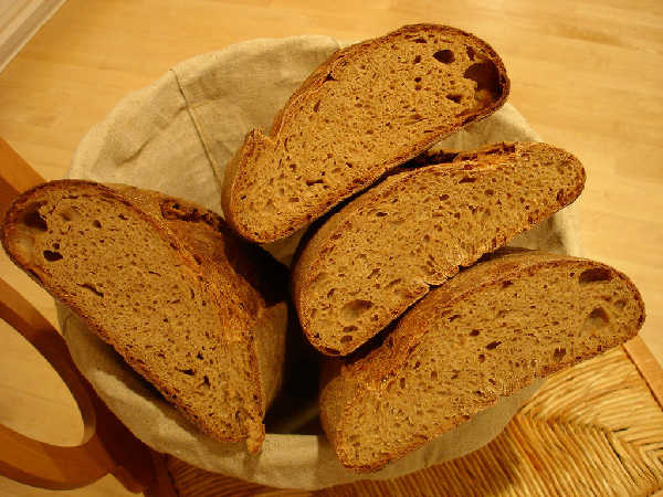 100% Whole Grain Hearth Breads - Crumb